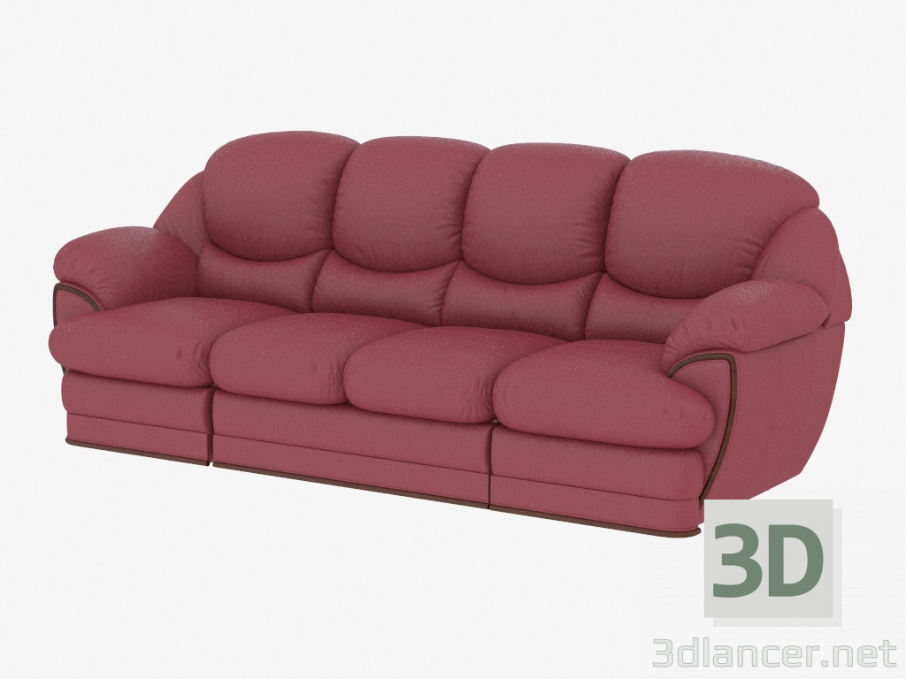 Prime 3D Model Modular Straight Leather Sofa Mobelzeit Max 2013 Evergreenethics Interior Chair Design Evergreenethicsorg