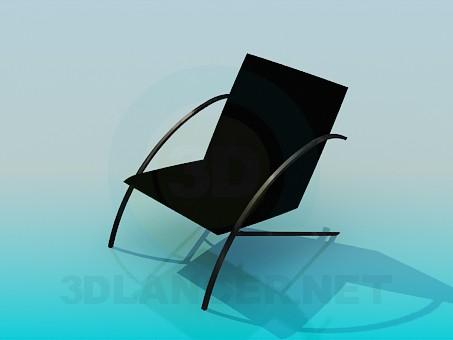 3d моделирование Низкий стул модель скачать бесплатно