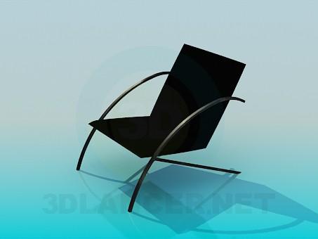3d модель Низкий стул – превью