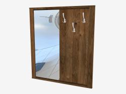 Cintre avec miroir (114 x 130 x 4,5 cm)