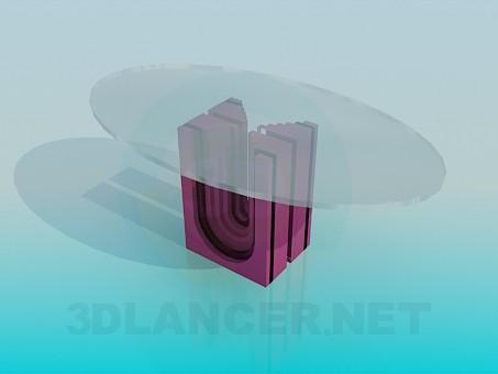 3d моделювання Журнальний столик на незвичайній ніжці модель завантажити безкоштовно