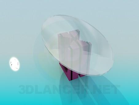 3d модель Журнальный столик на необычной ножке – превью