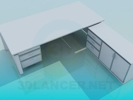 descarga gratuita de 3D modelado modelo Escritorio y mesita de noche