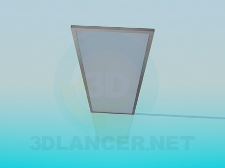 3d model Door of the frosted glass - preview