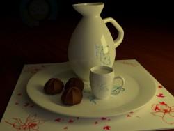 सुराही और कप