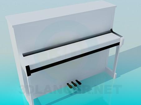 modelo 3D Piano blanco - escuchar
