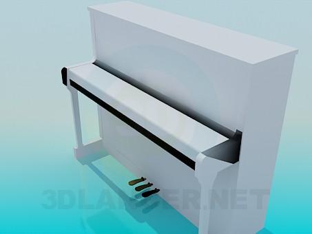 3d model Piano white - preview