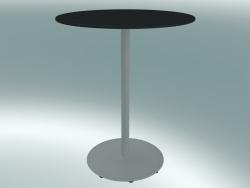 Tavolo BON (9380-01 (⌀ 60cm), H 74cm, HPL nero, ghisa bianco)