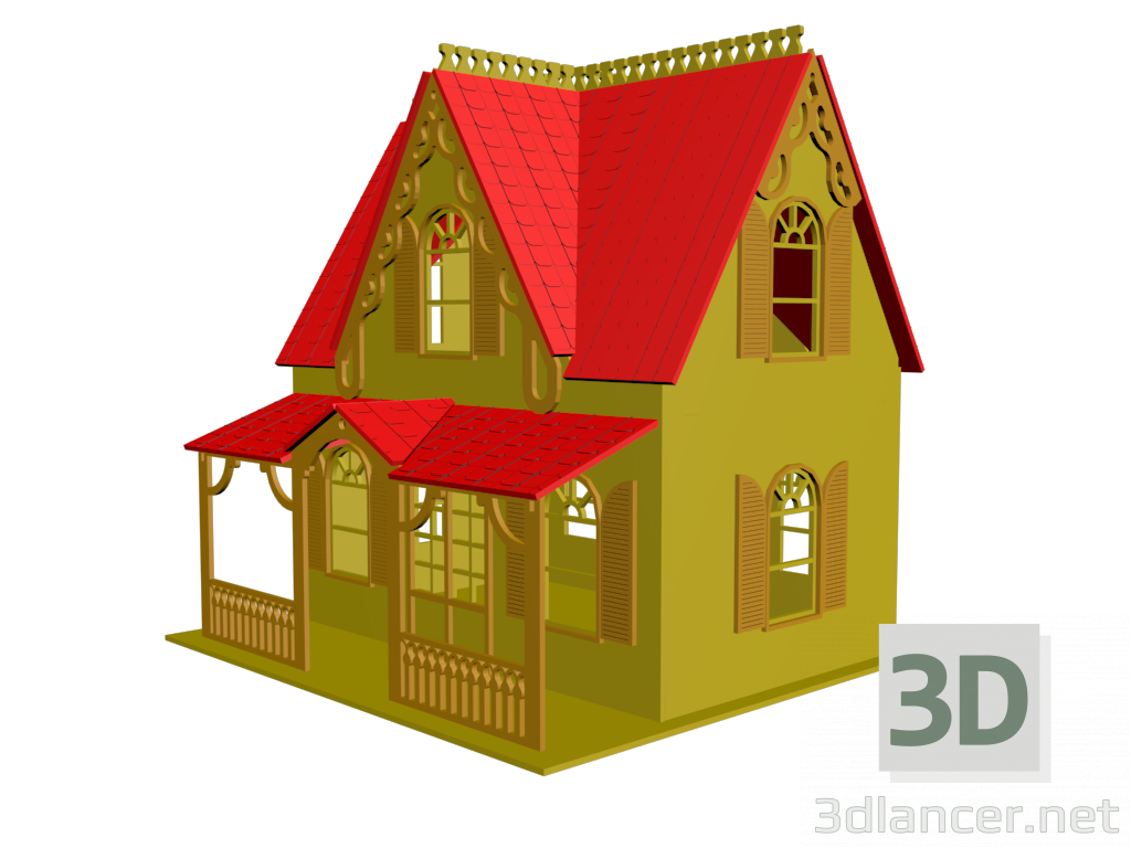 3d model Toy house - preview