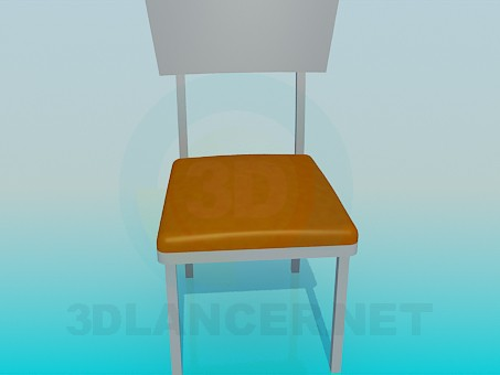 modelo 3D Silla con tratamiento lateral de cuero - escuchar