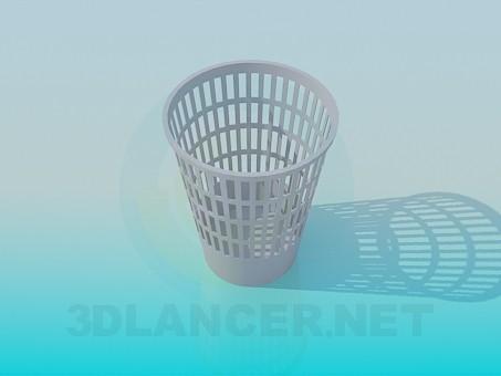 modelo 3D Cesto de residuos - escuchar