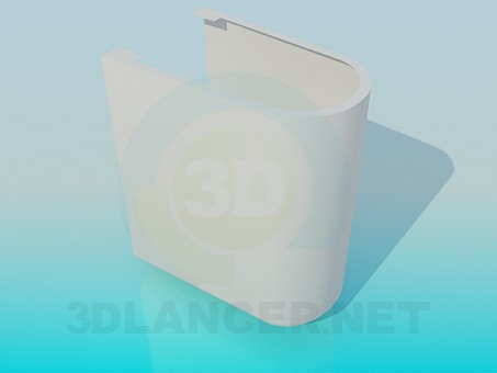 3d modeling Foot under the bidet model free download