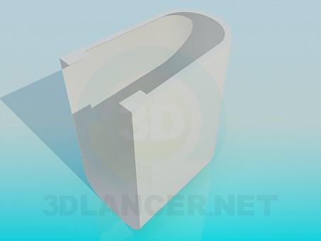 3d модель Ножка под биде – превью