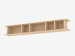 Shelf hinged with dividers