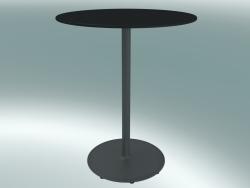 Tavolo BON (9380-01 (⌀ 60cm), H 74cm, HPL nero, ghisa grigio alluminio)
