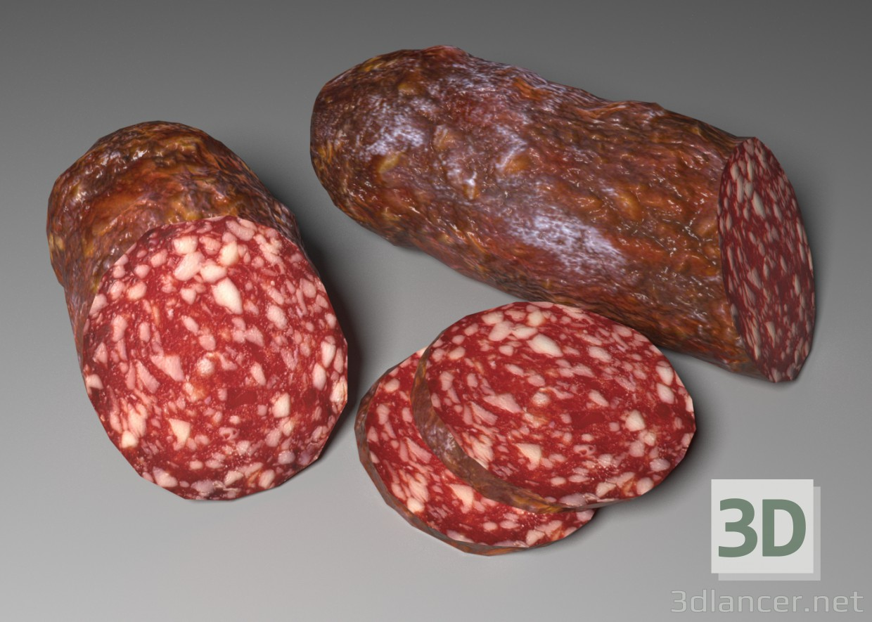 3d modeling Cervelat sausage model free download