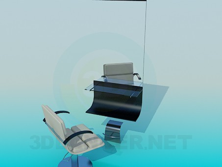 3d modeling Workplace hairdresser model free download