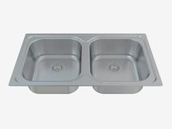 fregadero de la cocina de acero Xylo (ZEX-0203 50387)
