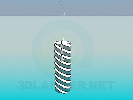 3d modeling Striped lamp model free download