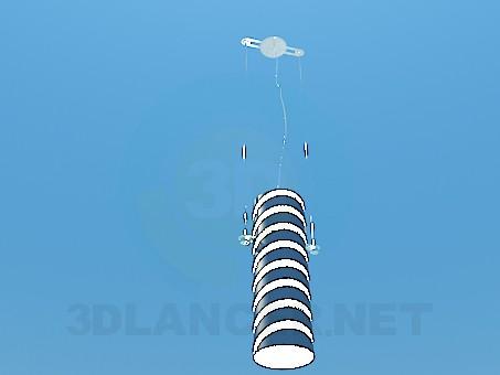 3d модель Полосатый светильник – превью
