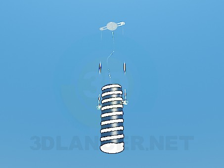3d model Striped lamp - preview