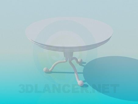 3d model Tea round table - preview