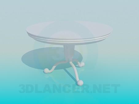modelo 3D Té de mesa redonda - escuchar