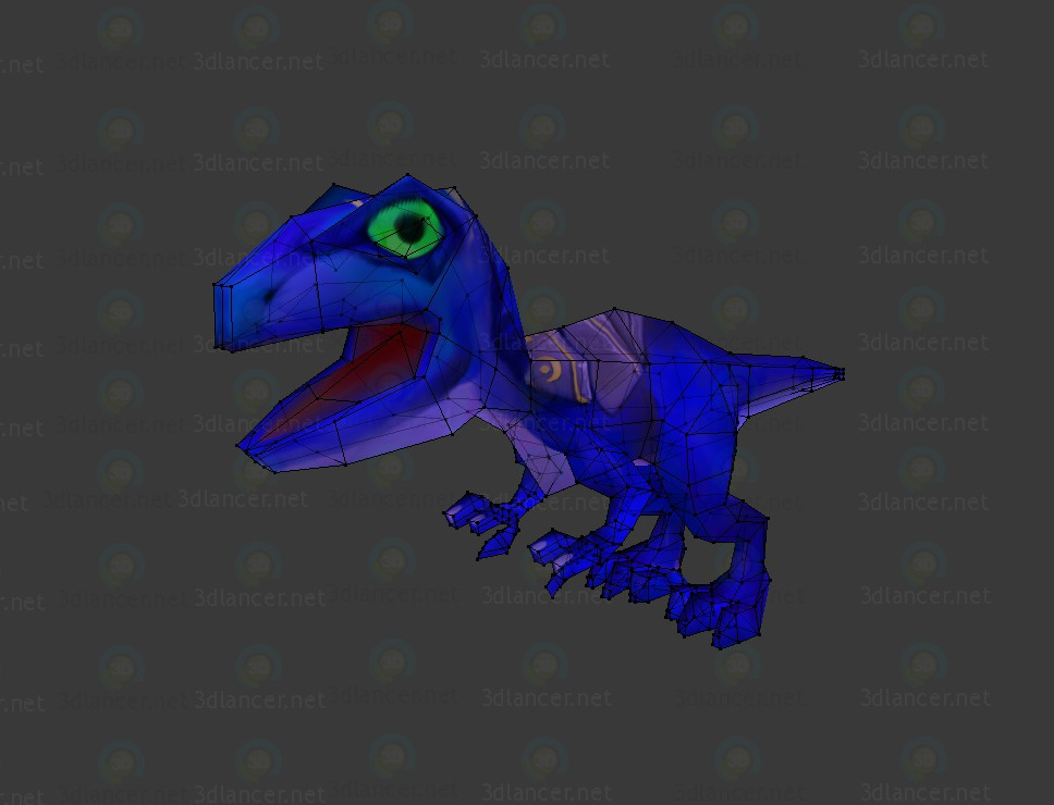 3d model Dinosaur - preview