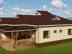Pequeña casa privada con una terraza