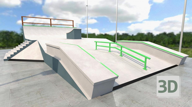 3d model Skate park - preview