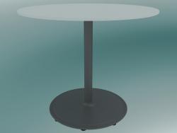 Tavolo BON (9380-51 (⌀ 60cm), H 51cm, HPL bianco, ghisa grigio alluminio)