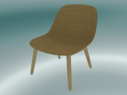 Rest chair with wooden base Fiber (Remix 433, Oak)