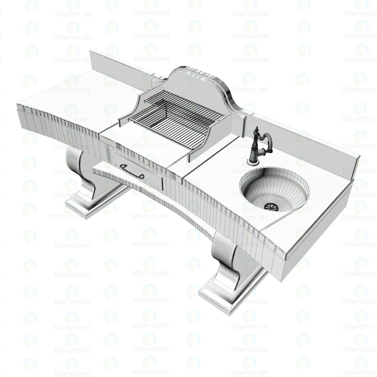 Barbacoa casa Lazzerini 3D modelo Compro - render