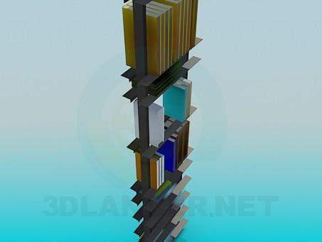 3d модель Книжная этажерка – превью