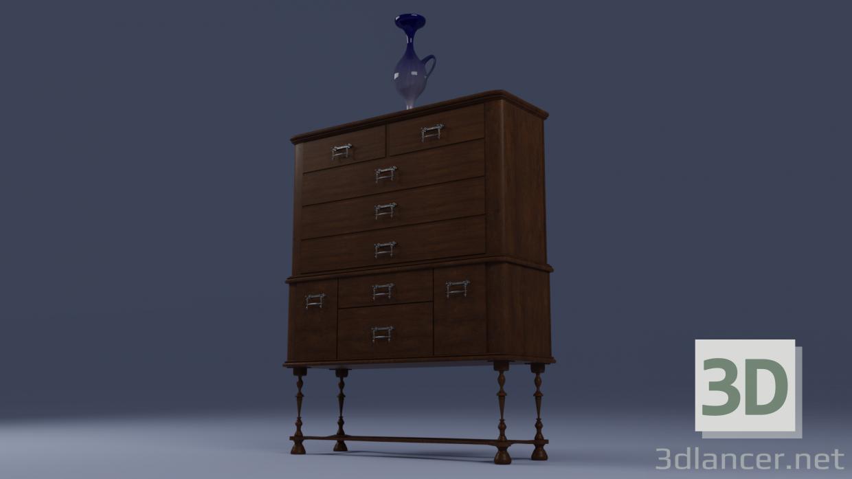 3d шкаф модель купить - ракурс