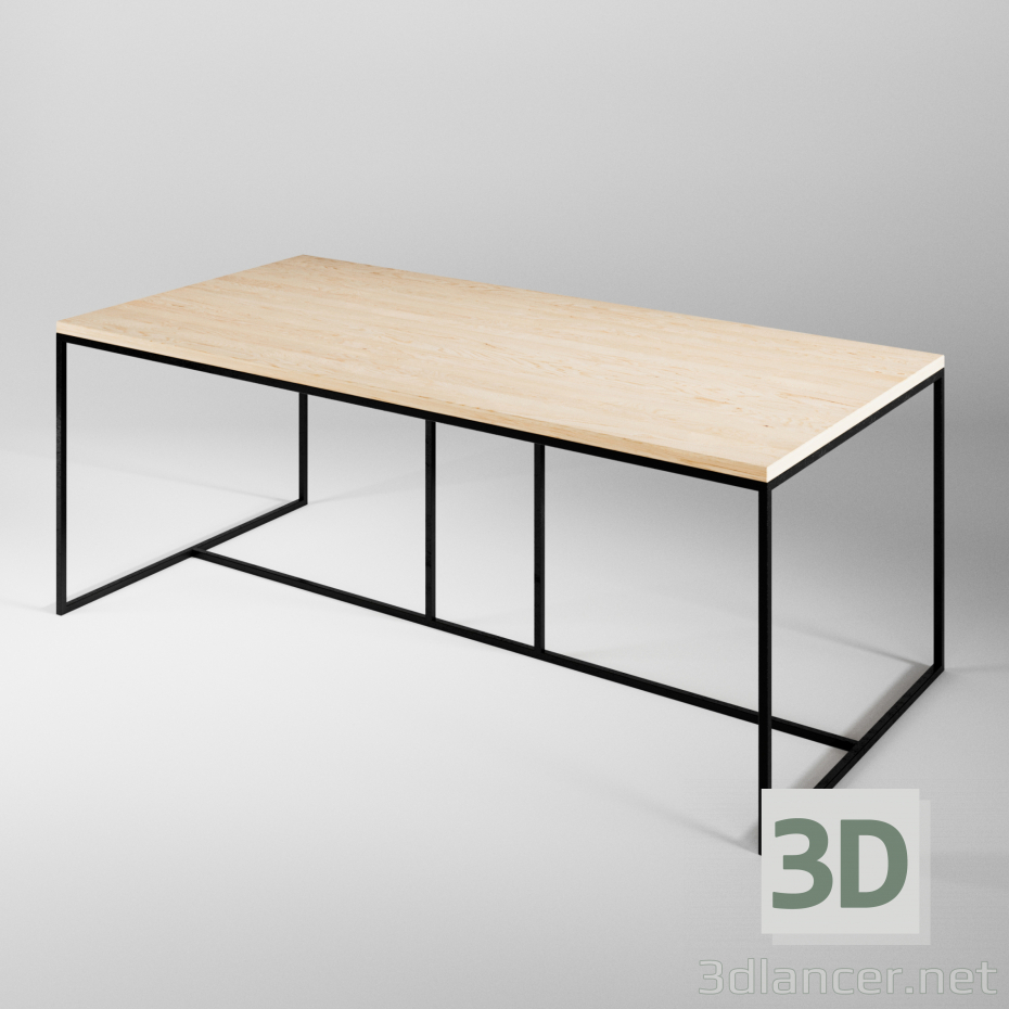 3d model FC-22 Table - preview