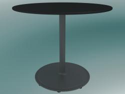 Стіл BON (9380-51 (⌀ 60cm), H 51cm, HPL black, cast iron grey aluminum)