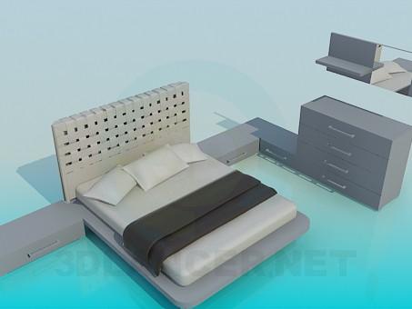 3d модель Мебель для спальной комнаты – превью