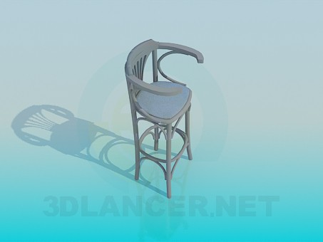3d modeling Wooden chair for the bar model free download
