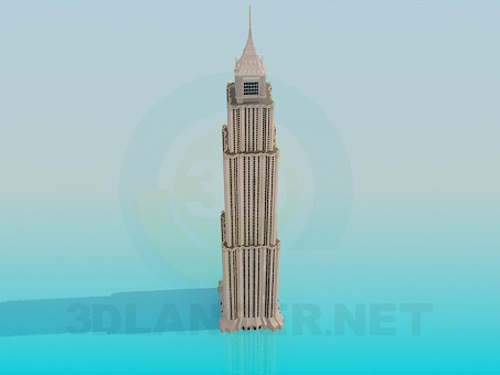 modelo 3D Edificio alto - escuchar
