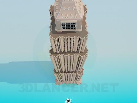 3d модель Высотное здание – превью