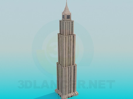 3d модель Висотна будівля – превью