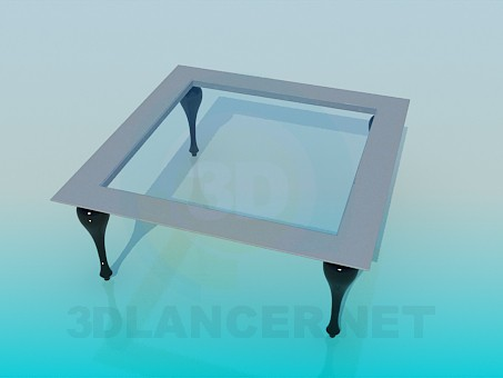 3d modeling Square coffee table model free download