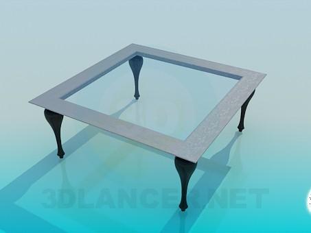 3d модель Квадратний журнальний стіл – превью