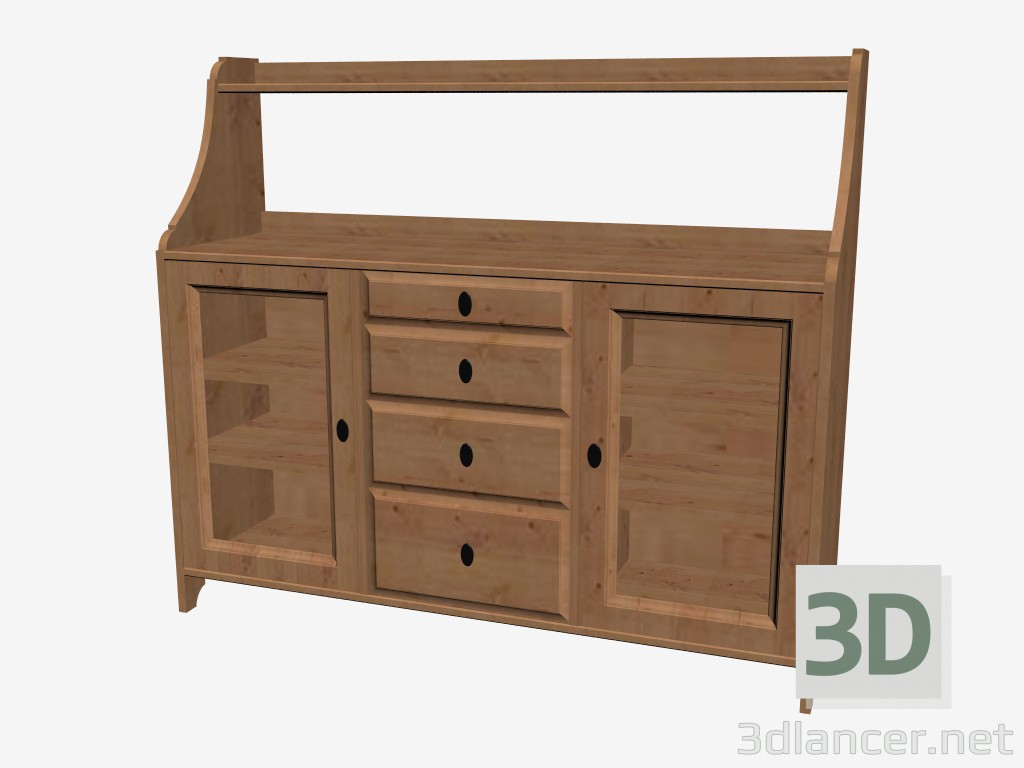 3d model sideboard manufacturer ikea id 16215 for Sideboard 3d