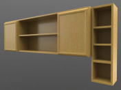 Shelves hinged