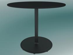 Tavolo BON (9380-51 (⌀ 60cm), H 51cm, HPL nero, ghisa nero)