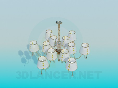 3d modeling The chandelier in the hall model free download