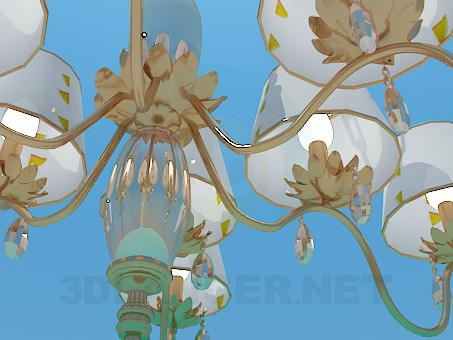 3d model The chandelier in the hall - preview