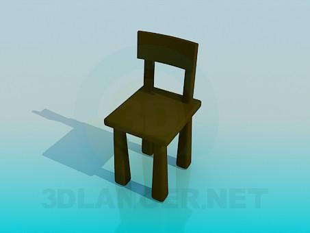 3d модель Массивный стул – превью